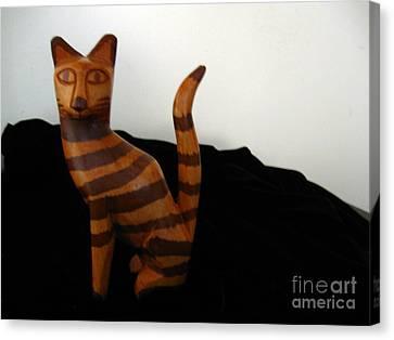 Striped Cat Canvas Print