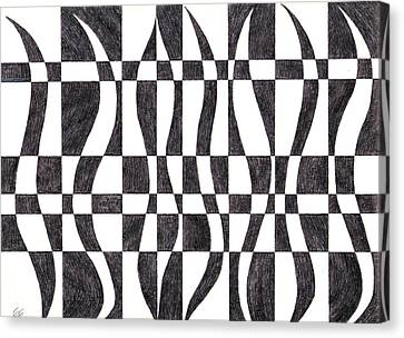 Striped Canvas Print by Eric Forster