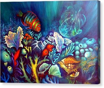 Striped Fish Canvas Print