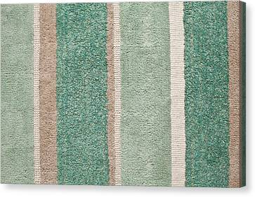 Striped Rug  Canvas Print by Tom Gowanlock