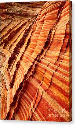 Striped Sandstone Canvas Print