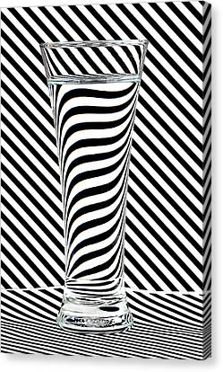 Striped Water Canvas Print by Steve Purnell