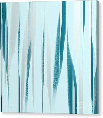 Stripes 9 Abstract Square Canvas Print by Andee Design