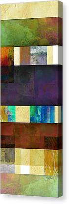 Stripes And Squares - Abstract -art Canvas Print by Ann Powell