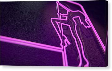 Stripper Sign Canvas Print