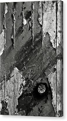 Stripping Hull Of An Old Abandoned Ship Canvas Print