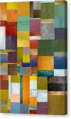 Strips And Pieces V Canvas Print by Michelle Calkins