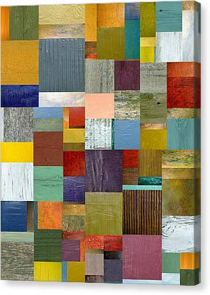Strips And Pieces Vl Canvas Print by Michelle Calkins