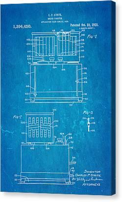 Strite Bread Toaster Patent Art 1921 Blueprint  Canvas Print by Ian Monk