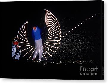 Stroboscopic Golf Swing Canvas Print by Michel Hans Vandystadt