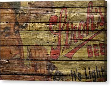 Strohs Beer Canvas Print