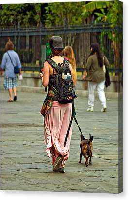 Strolling In Jackson Square Canvas Print by Steve Harrington