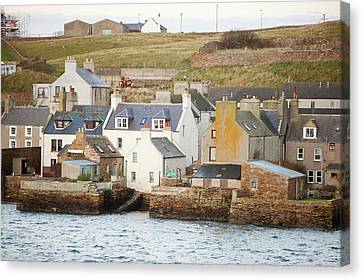 Stromness Town And Harbour  Canvas Print by Ashley Cooper