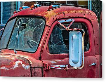 Canvas Print featuring the photograph Strong City Red by Steven Bateson