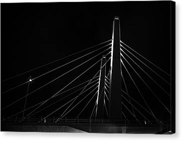 Structure In The Shadows Canvas Print by CJ Schmit