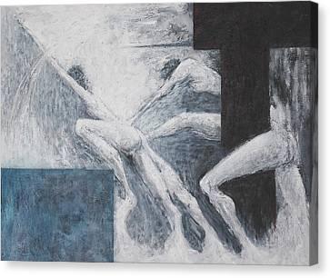 Struggle Canvas Print by Wayne Carlisi
