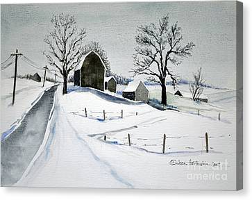 Strutt Road Wayland Ny Canvas Print by Joan Hartenstein