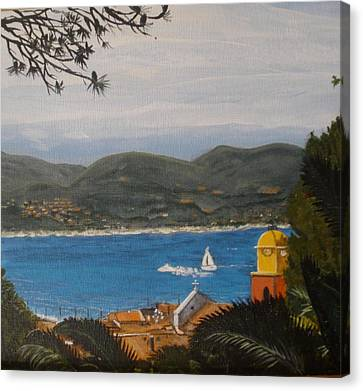 Canvas Print featuring the painting St.tropez France by Betty-Anne McDonald