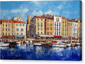 St. Tropez - France Canvas Print by Miroslav Stojkovic- Miro