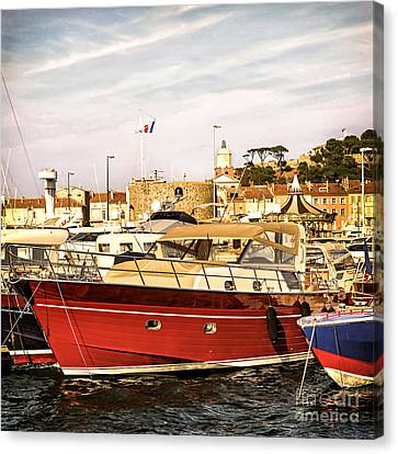 Saint-tropez Harbor Canvas Print by Elena Elisseeva