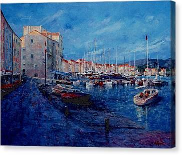 St.tropez  - Port -   France Canvas Print by Miroslav Stojkovic - Miro