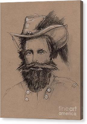 Stuart's Rebuke Canvas Print by Scott and Dixie Wiley