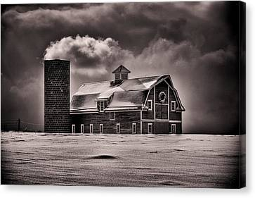 Stuck In The Cold Canvas Print