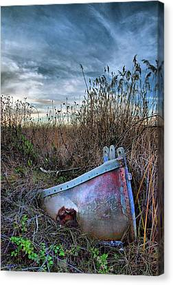 Stuck In The Marsh Canvas Print by Michael  Ayers