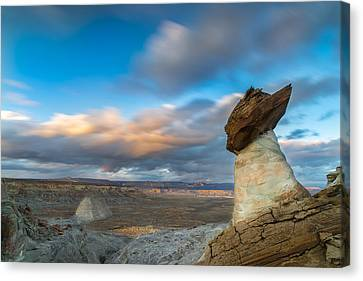 Monument Valley Canvas Print - Stud Horse Point by Larry Marshall