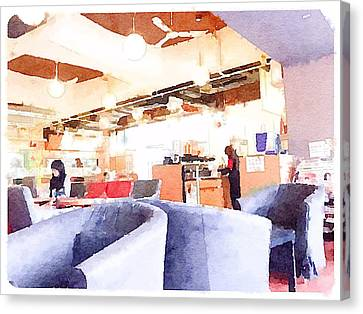 Student Cafeteria In Hong Kong University  2 Canvas Print by Yury Malkov