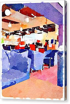 Student Cafeteria In Hong Kong University  Canvas Print by Yury Malkov