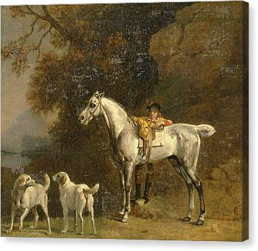 Studies For Or After The 3rd Duke Of Richmond Canvas Print by Litz Collection