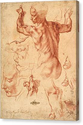 Studies For The Libyan Sibyl Canvas Print