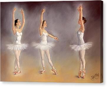 Studies Of A Ballet Dancer Canvas Print by Margaret Merry
