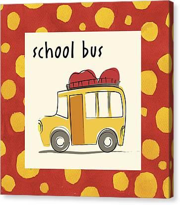 School Bus Canvas Print - Studio by Esteban