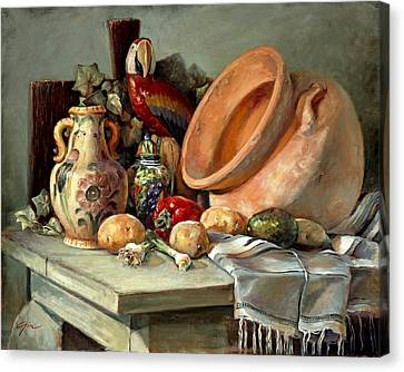 Studio Still Life Canvas Print by Gini Heywood