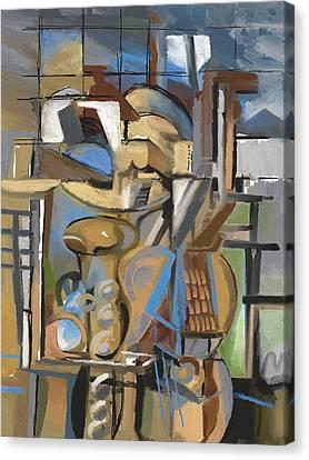Studio With Cello Canvas Print
