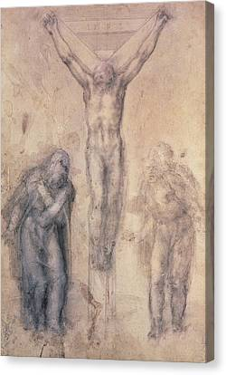 Study For A Crucifixion Canvas Print by Michelangelo Buonarroti