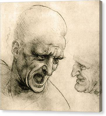Study For A Warrior's Head Canvas Print
