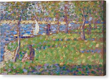 Study For La Grande Jatte Canvas Print
