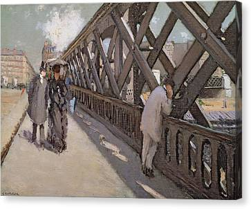 Study For Le Pont De L Europe Canvas Print
