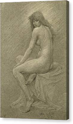 Study For Lilith Canvas Print