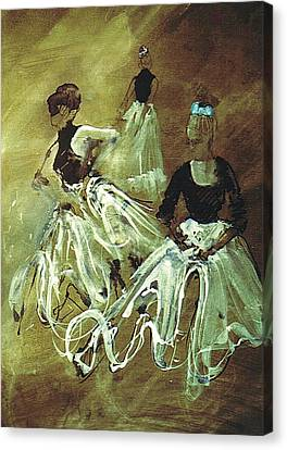 Study For Spanish Rehearsal Canvas Print by Podi Lawrence