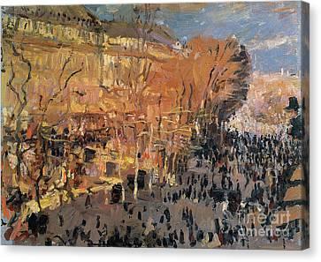 The Boulevards Canvas Print - Study For The Boulevard Des Capucines by Claude Monet