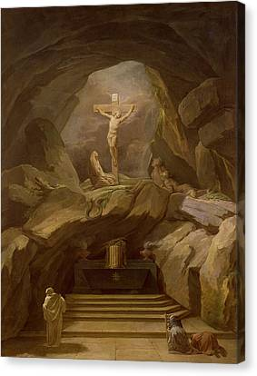 Study For The Chapelle Du Calvaire In The Eglise De Saint-roch Oil On Canvas Canvas Print by Nicolas-Bernard Lepicie