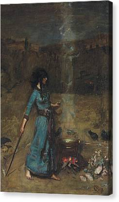 Study For The Magic Circle, 1886  Canvas Print