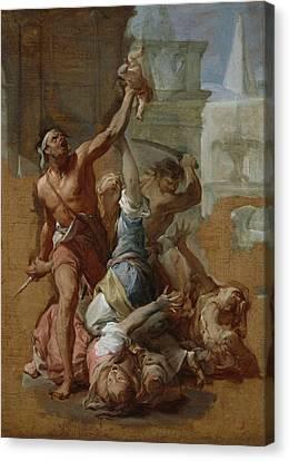 Study For The Massacre Canvas Print by Francesco Trevisani