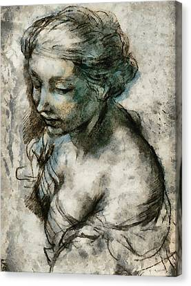 Profile Canvas Print - Study by Gun Legler