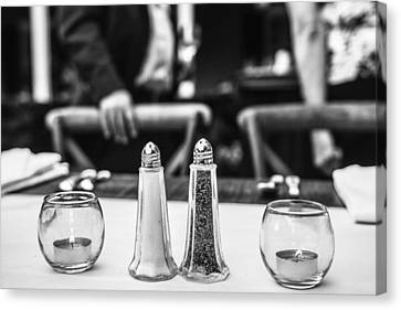 Study In Black And White..salt And Pepper Canvas Print