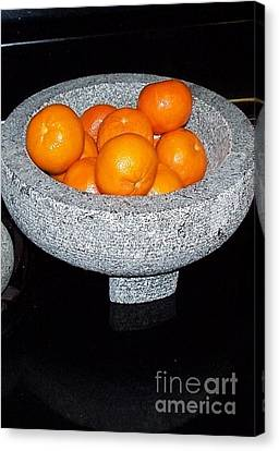 Study In Orange And Grey Canvas Print